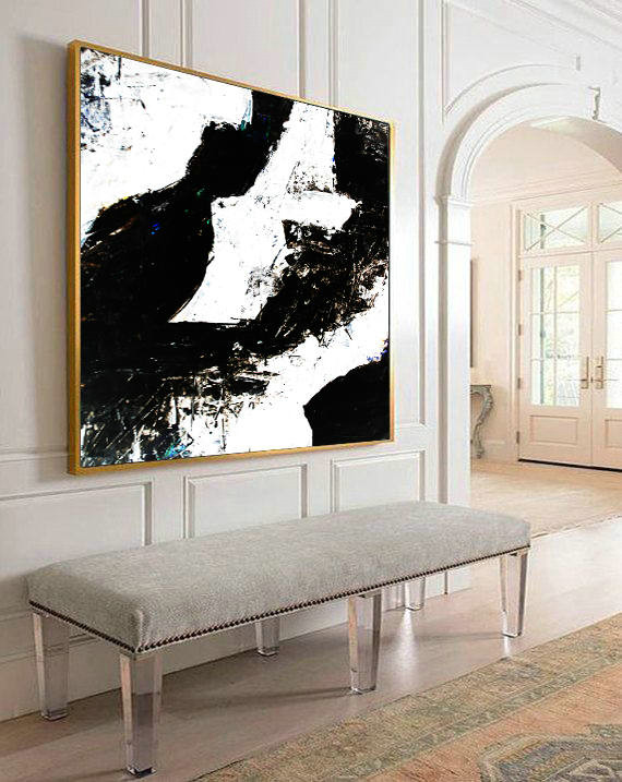 Black and White Art, Minimal Large Art, Canvas Abstract, Black white painting, Large Art Painting, Acrylic Art, Handmade Large Art, Painting