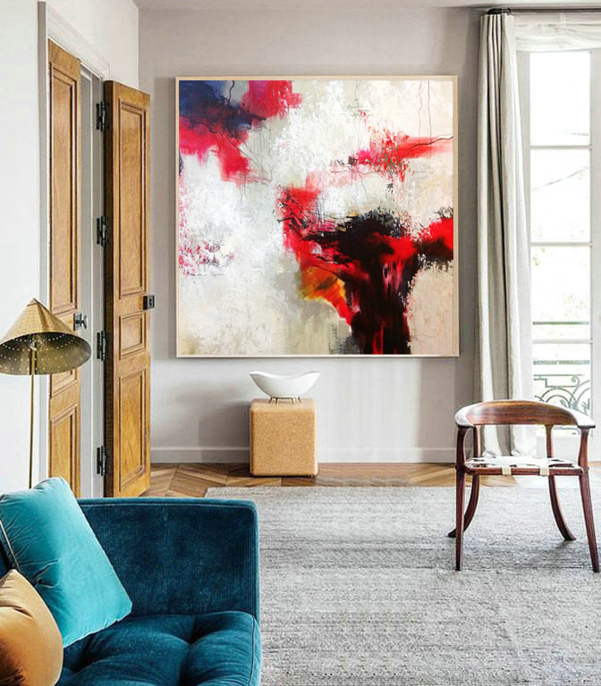 Abstract Painting, Original Artwork, Office Decor, Painting for decor, Contemporary Art, Hand Paint, Oil Painting, Oil, Large Decor Painting