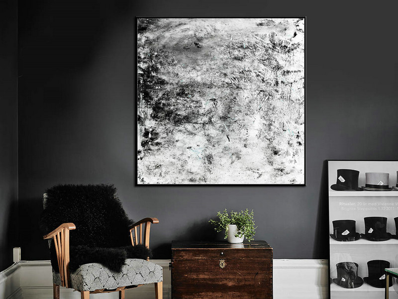 Acrylic Painting, Abstract painting, Abstract art, Oil painting, Painting, Original Painting, Living Room Wall Decor, Black and white Art
