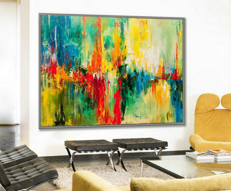 Colorful Large Art, Large Decor Art, Painting abstract, Large Canvas Art, Original Large Art, Texture knife, Original Artwork, Painting Art