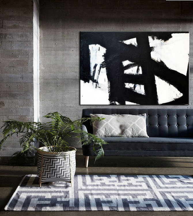 Black White Art Abstract Painting Black White Painting Wall Art Black and White Art Canvas Painting Abstract Wall Art Decor Painting Art