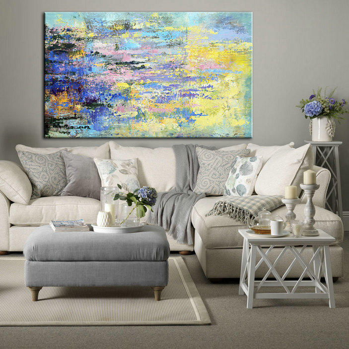 Acrylic Painting/On Canvas Abstract/Wall Hanging Heavy/Textured Collectible Art/Cozy Home Living/Decor Acrylic Painting