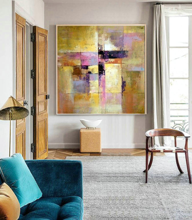 Abstract painting, Oil Painting, wall art deco, original art, impressionism design, abstract wall print, Heavy Texture, Painting On Canvas