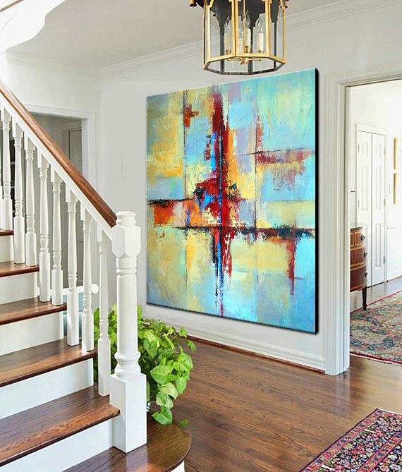 Original Large Art, Large Decor Art, Painting, Canvas Art Wall, Natural Colors, Abstract Canvas Art, Textured painting, Office Canvas Art