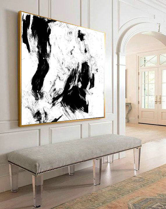 Painting Art Oil, Black and white, Contemporary Art, Abstract Painting, Original Artwork, Painting On Canvas, Abstract art print, Acrylic