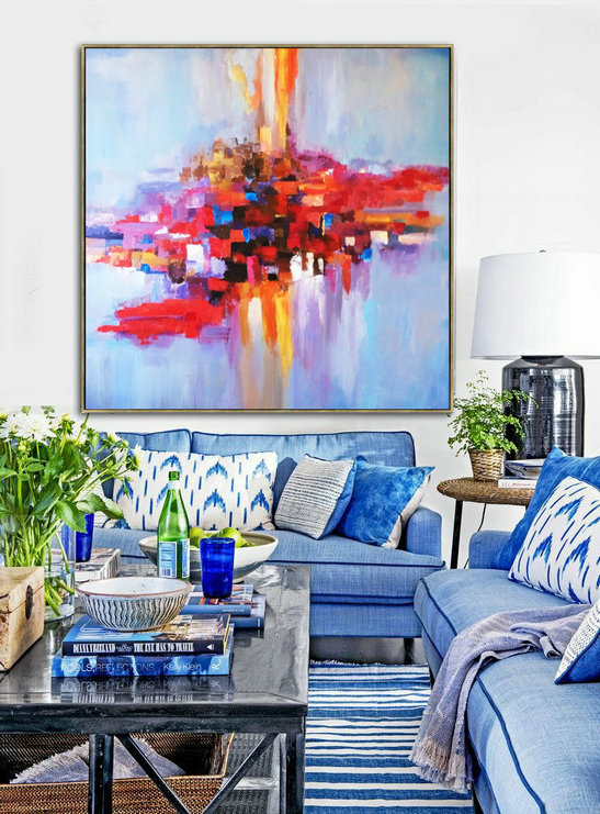 Oil Painting, Painting, Original art, Painting On Canvas, Canvas Art, Palette knife, Art Painting, Oil Large Art, Large Art, On Canvas