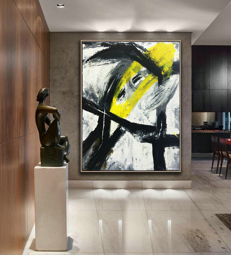 Original Artwork, Large Contemporary, Abstract Decor Painting, Large Decor Art, Black and white art, Abstract Painting, Black white fine art