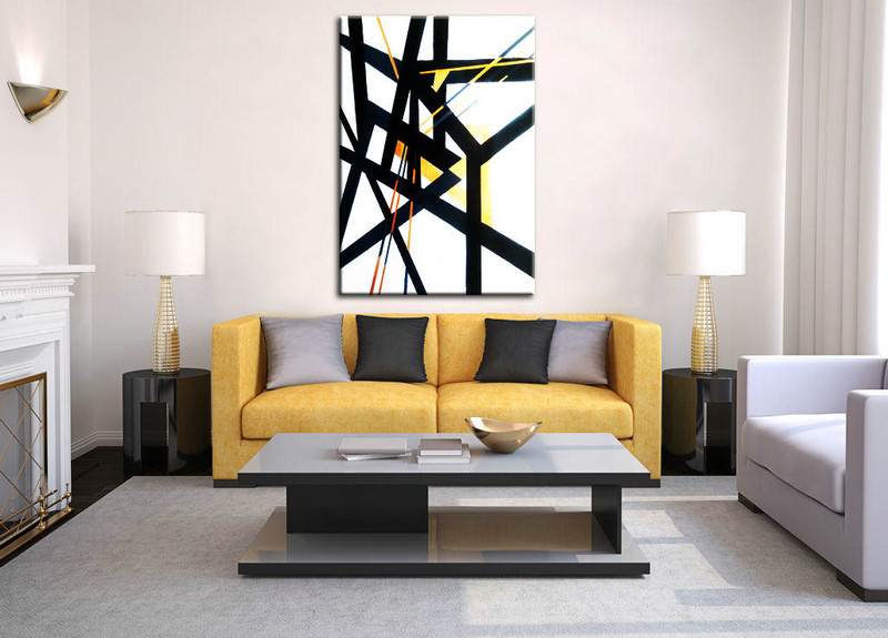 Original Large Painting, Oversize art, Large Acrylic Art, Black and White wall art, Painting abstract, Large Canvas Art, Living Room Art