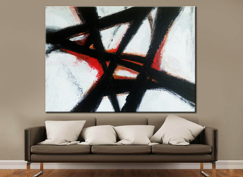 Black white painting, Big Abstract Art, Canvas Abstract, Acrylic Art, Large Art Painting, Minimal Large Art, Handmade Large Art, Painting