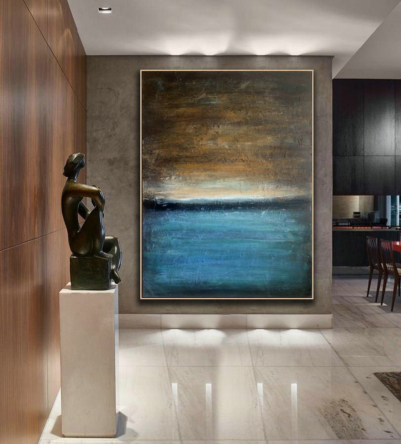 Blue canvas art, Oil Abstract Art, Large Art, Abstract Art, Abstract Painting, Oil Painting, Blue abstract art, Large Decor Art, Wall decor