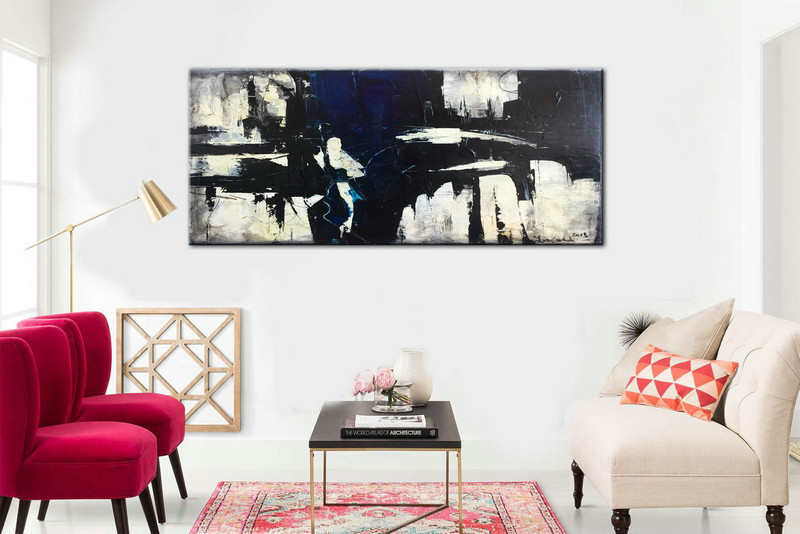 Abstract painting, Large abstract, Large Wall Art, Heavy Texture, Large Decor Painting, Black and White, Acrylic Large Art, Large Painting