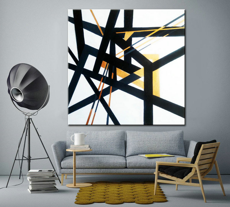 Black and White Art, Art office decor, Minimal Art, Painting Art, Abstract Canvas Art, Painting abstract, Oil Large Painting, Original Art