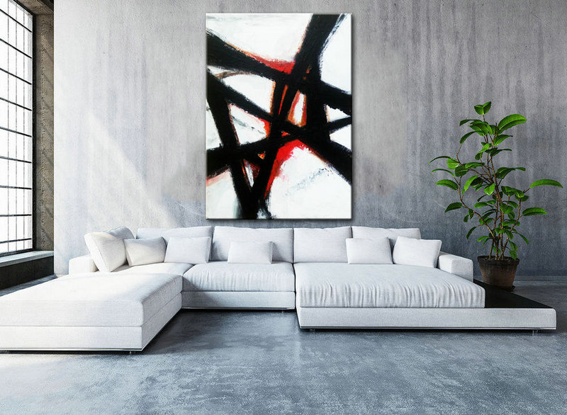 Abstract Wall art, Black and white Art, Abstract Painting, Large abstract, Black White Large Art, Abstract Decor Art, Contemporary Art, Art
