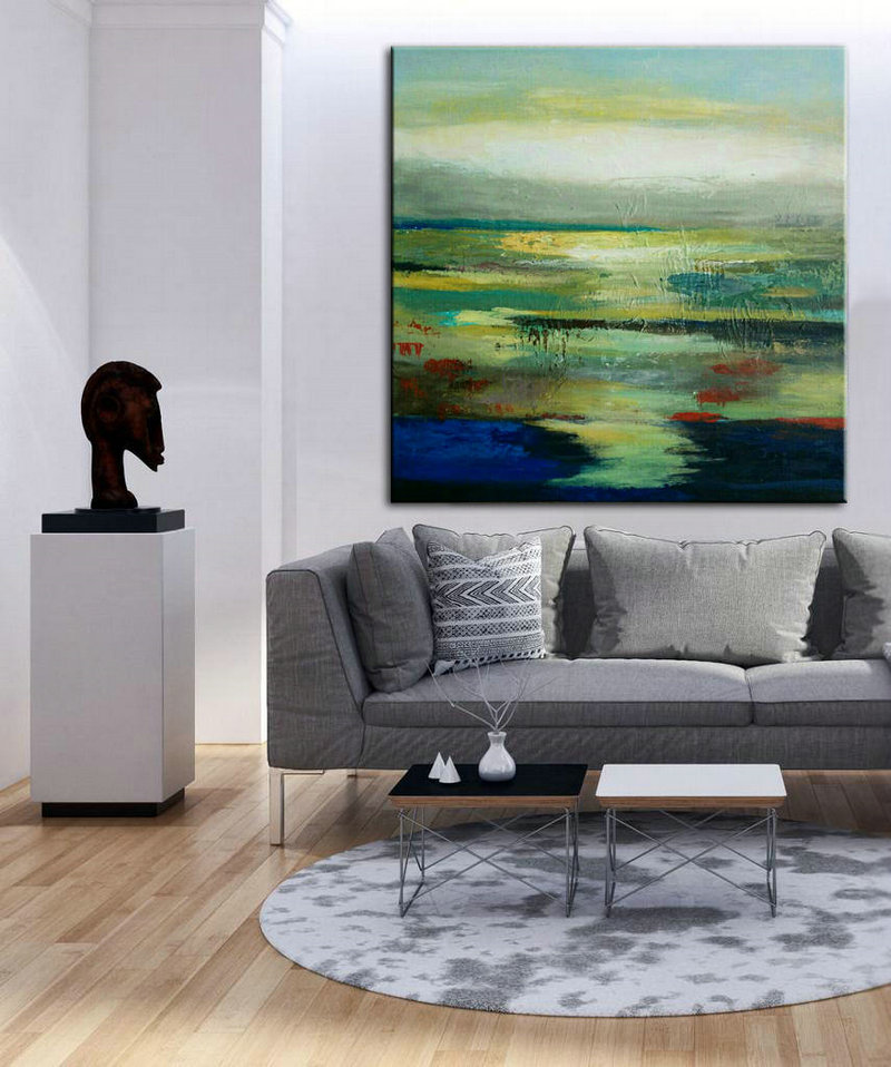 Contemporary Art Living Room Decor Abstract Art Print Abstract Decor Art Painting Canvas Art Palette Knife Oil Large Art Canvas Art Pat275 199 00 Handmade Large Abstract Painting On Canvas