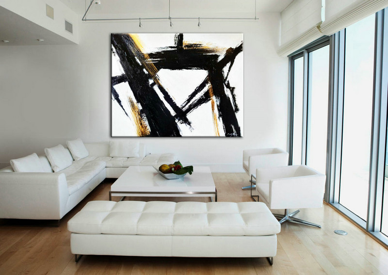 Living Room Art, Black Wall Art, Abstract Painting, Black White Art, Abstract Art, Oil painting, Large abstract, Large Art, Oil Canvas Art