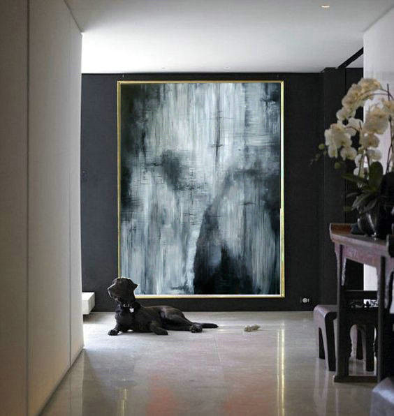 Black and White, Minimal Art, Black Painting, Oil Large Art, Large Minimal Art, Abstract wall decor, Minimal Large Art, Painting Abstract