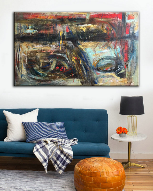 Original Artwork, Acrylic Painting, On Canvas, Heavy Textured Collectible, Home Decor, Abstract Painting, Abstract Giclee, Acrylic painting