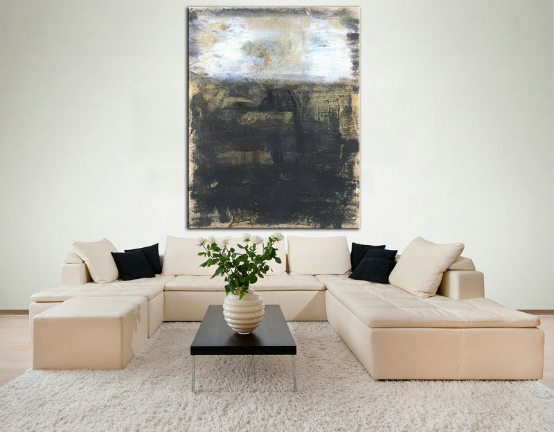 Urban Industrial Art, Large Art on Canvas, Dining Room Wall Art, Original Abstract Art, Acrylic Colorful Art, Oil Contemporary Art, Wall art