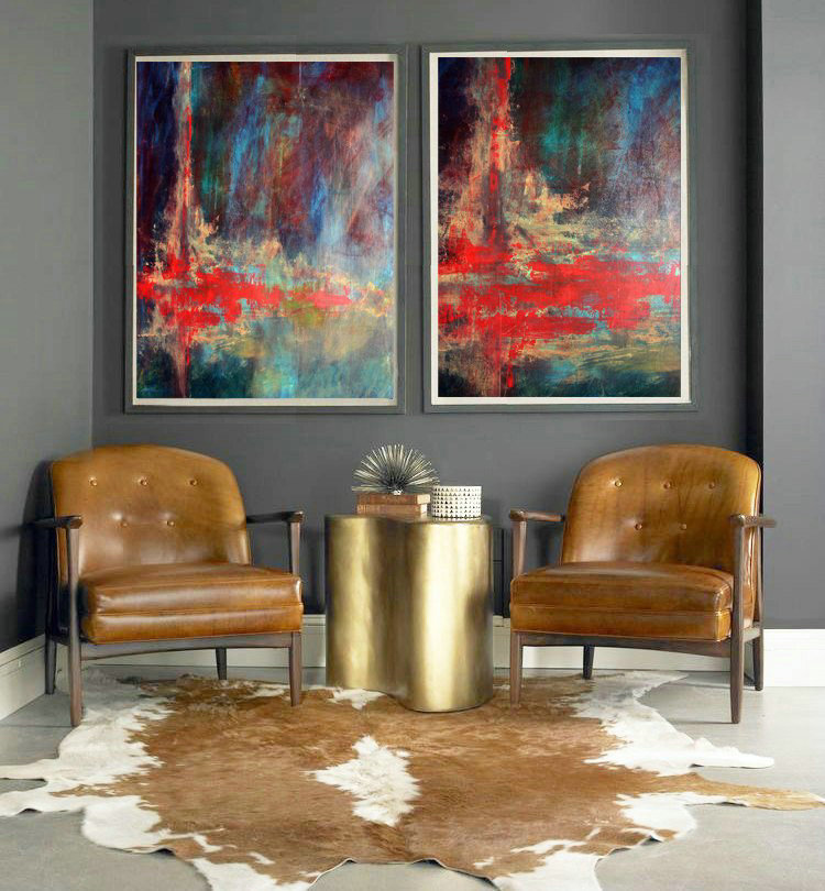 Set of 2, Wall Art Decor, Abstract Painting, Acrylic art, Large Modern Art, Canvas Art, Set of 2 Art, Acrylic on canvas, Heavy Textured Art