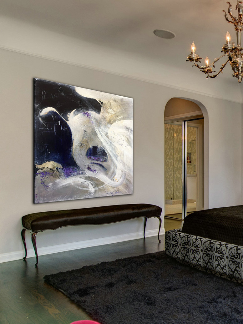 Acrylic Art Wall Art Canvas Painting Home Decor Contemporary Art Acrylic Painting Canvas Art Wall Decor Black And White Abstract Pat407 199 00 Handmade Large Abstract Painting On Canvas