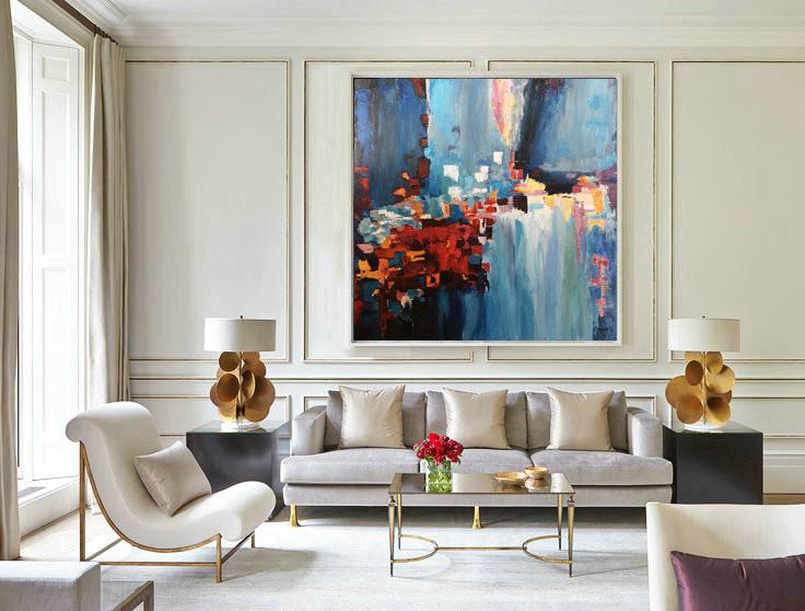 Acrylic Painting Canvas Abstract Original Artwork Wall Decor Living Room Wall Decor Original Abstract Painting Wall Art Decor Pat455 199 00 Handmade Large Abstract Painting On Canvas