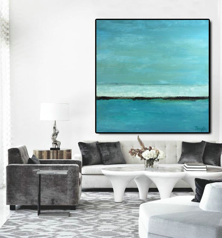 Oil Abstract Art, Abstract painting, Ocean Color, Painting On Canvas, Large wall art, Abstract wall print, Heavy Texture, Living Room Decor