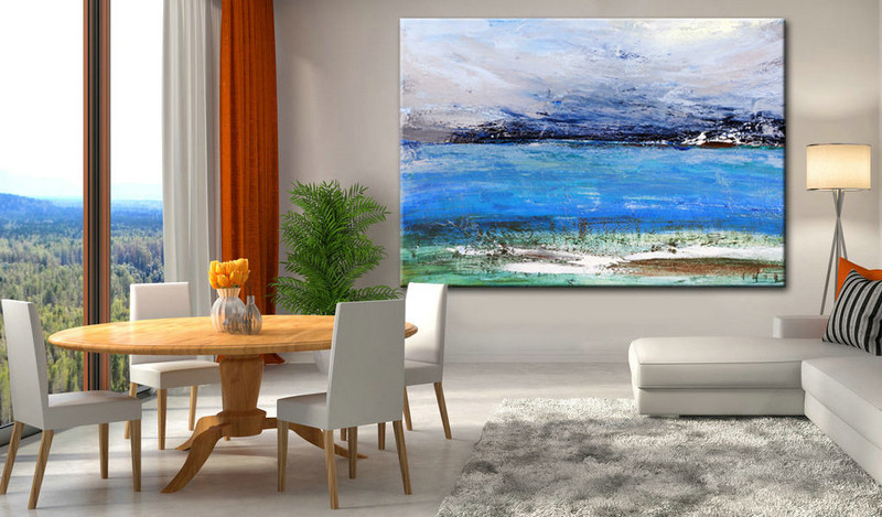 Wall Art, Oil painting, Canvas Art, Modern Painting, Wall Decor, Bedroom Decor, Abstract Painting, Abstract Landscape, Heavy Texture