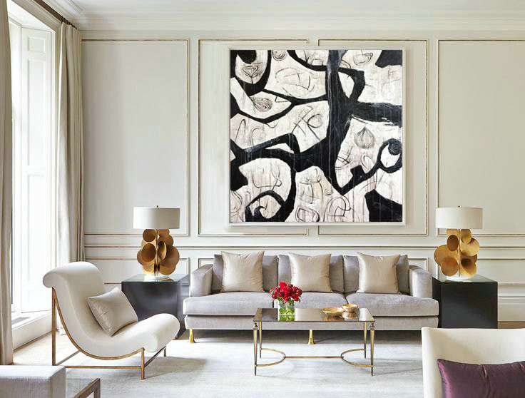 Abstract Painting, Abstract Decor Painting, Abstract Artwork Painting, Art Black and White, Large Art, Black and white Art, Large Decor Art