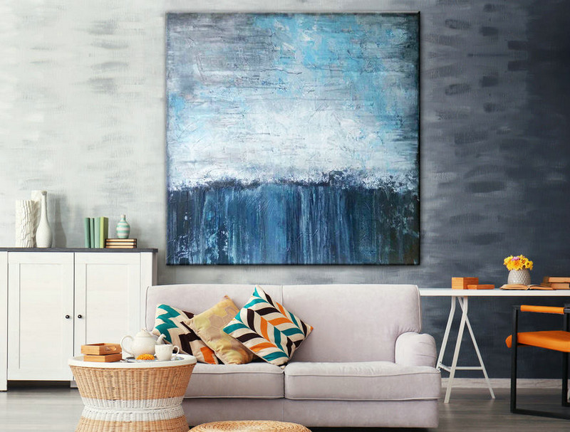 Large acrylic Art, Abstract teal art, Oil Original Art, Painting, Large Colorful Art, Original acrylic painting, Colorful Artwork Painting