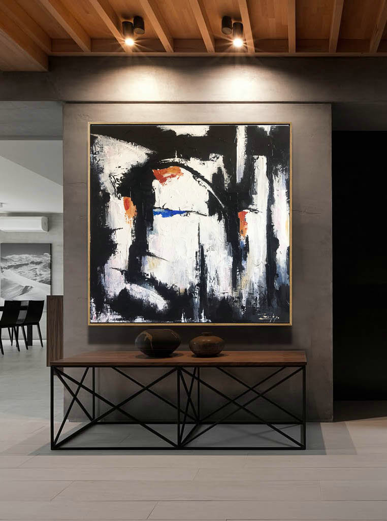 Acrylic paintings, Black and white art, Canvas, Painting On Canvas, Painting, Abstract Decor Painting, Abstract Painting, Original Artwork