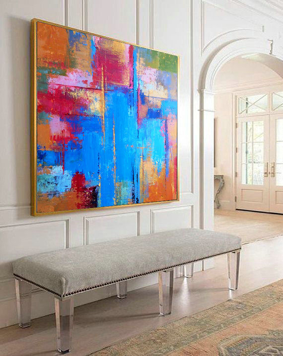 Abstract Painting, Abstract rainbow, Contemporary Art, Palette knife, Art painting, Abstract print, Colorful Collectible Painting, Art