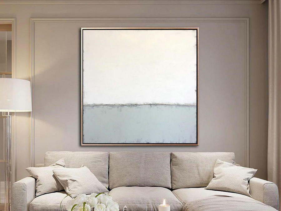 Light Painting Abstract Decor Wall Painting for Office White Painting Abstract Acrylic Art Nursery Wall Art Abstract Oil Painting on Canvas