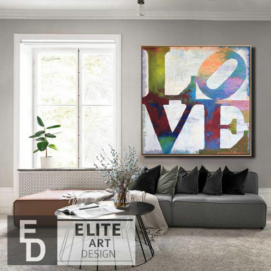 Original Painting Abstract Large Painting Love Couple Romantic Painting Romantic Wall Art Unique Wall Art Large Wall Decor Living Room