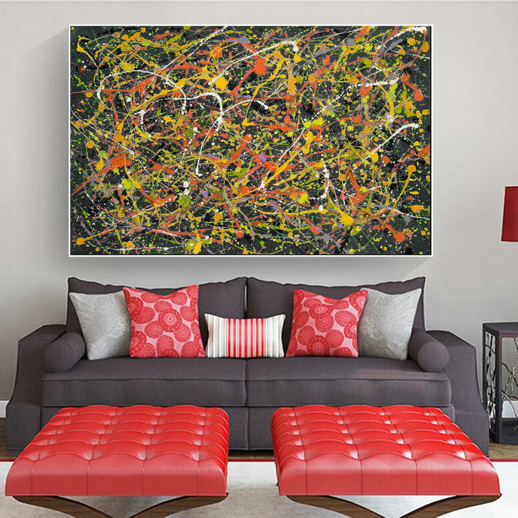 Oversized Artwork,Works Of Original Abstract,Original Abstract Painting,Original Abstract Dripping L619