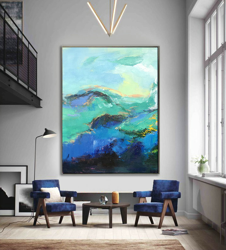 Handmade Extra Large Contemporary Painting, Huge Abstract Canvas Art, Original Artwork by Leo. Hand paint - By Leo