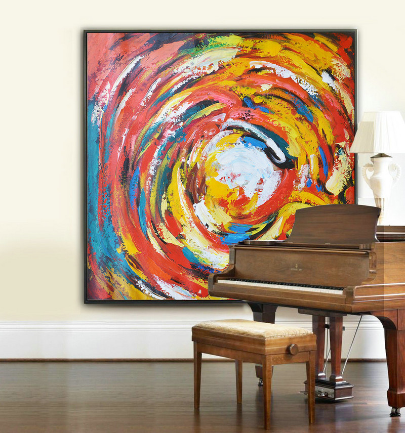 Large Modern Art Contemporary Painting, Handmade Original Art, Acrylic Paintingt - By Biao