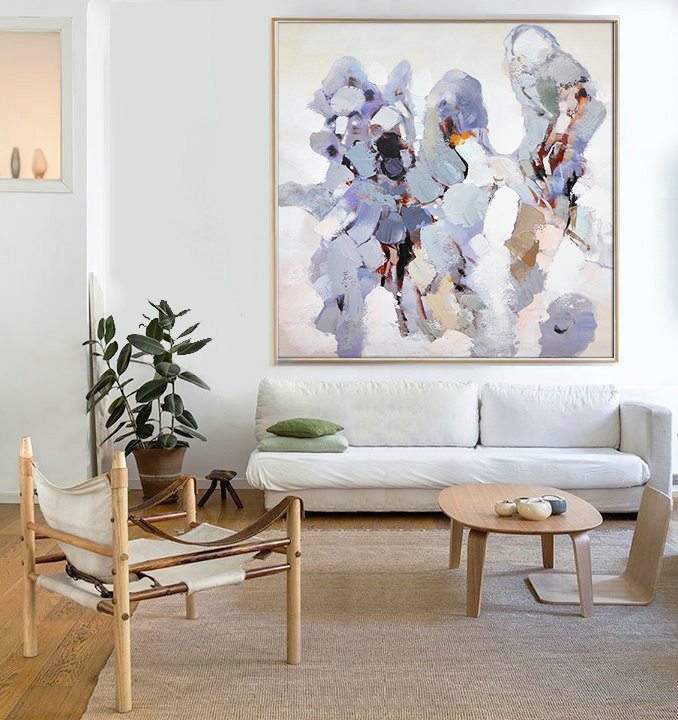 Hand Made Abstract Art, Acrylic Painting Large Canvas Art, Living Room Wall Artt - By Biao