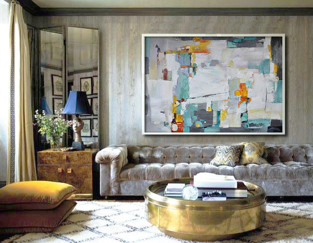 Original Painting Hand Made Large Abstract Art, Acrylic Painting on Canvas, XL large Canvas Artt - By Biao