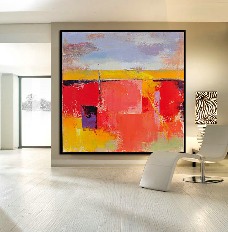 Handmade Large Contemporary Art Canvas Painting Original