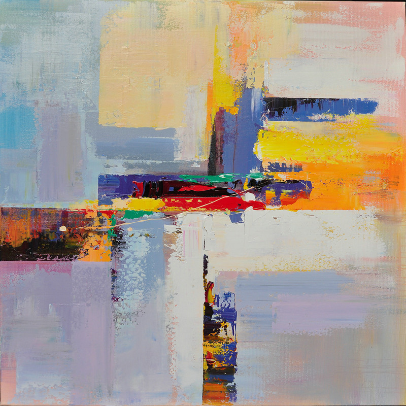 Handmade large contemporary art canvas painting original for Canvas to paint on