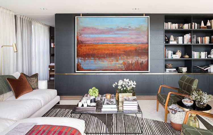 Landscape Painting Abstract Oil Painting Large Canvas Art Original Art Abstract Art, by Jackson.