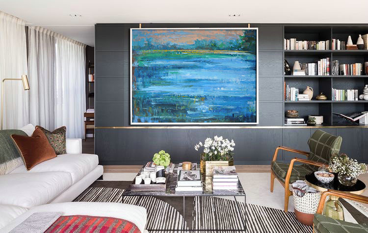 Original Painting Abstract Oil Painting Large Canvas Art Landscape Art Abstract Art, by Jackson.
