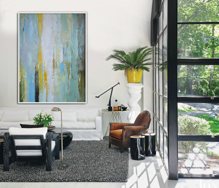 Handmade Extra Large Contemporary Painting, Huge Abstract Canvas Art, Original Artwork.t - By Biao