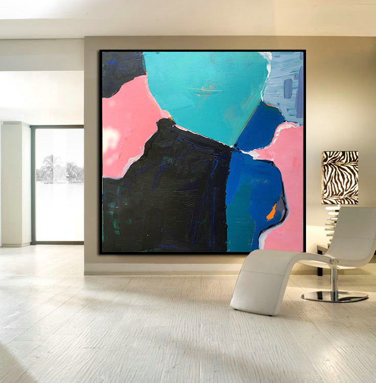 Hand Made Large Acrylic Painting On Canvas, Abstract Painting Canvas Art. Large Wall Art Canvast - By Biao