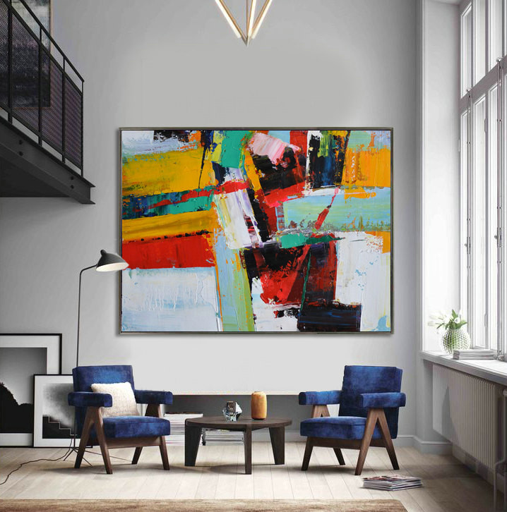 Handmade Extra Large Contemporary Painting, Huge Abstract Canvas Art, Original Artwork. Hand paint - By Leo