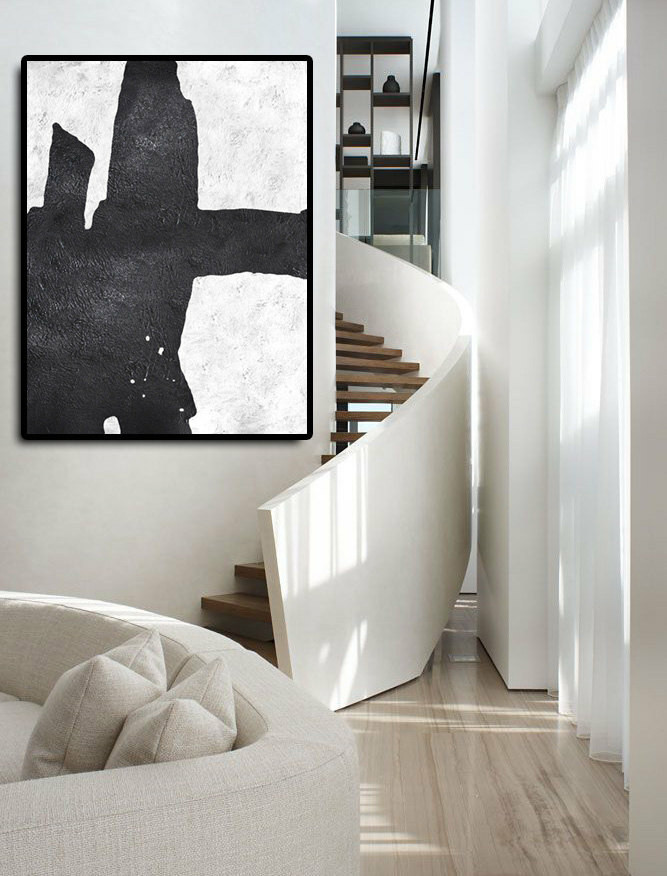 Huge Abstract Painting On Canvas, Vertical Canvas Painting, Extra Large Wall Art, Abstract Art, Handmade.
