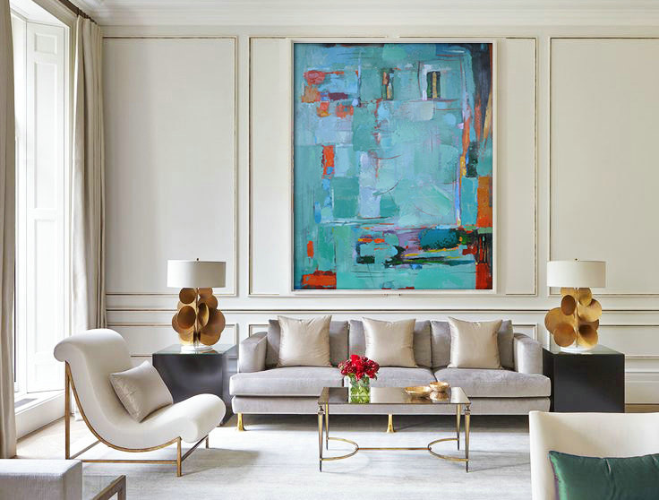 Original Painting Hand Made Large Abstract Art, Acrylic Painting on Canvas, XL large Canvas Art.t - By Biao