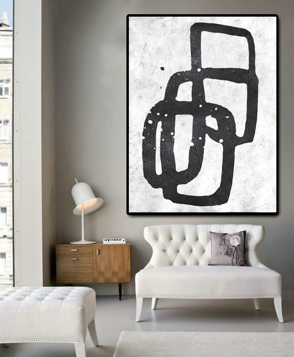 Abstract Painting On Canvas, Vertical Canvas Painting, Large Wall Art, Abstract Art.