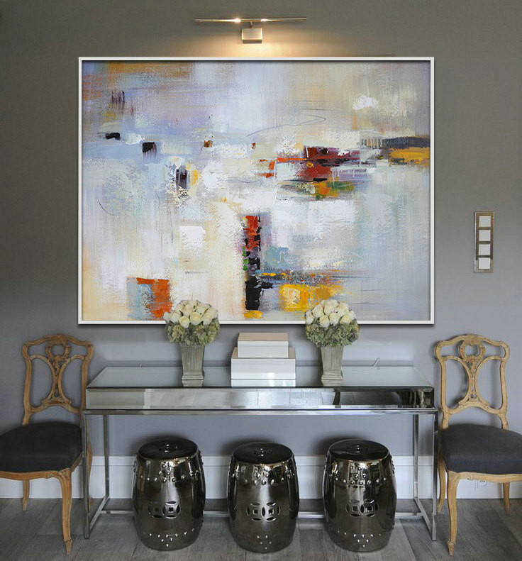 Handmade Large Painting, Original Art, Large Canvas Art. Contemporary Art, Modern Art Abstract Paintingt - By Biao