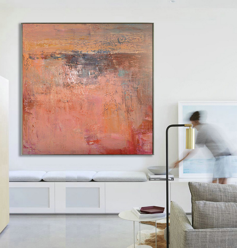 Large Abstract Art Handmade Oil Painting On Canvas, Contemporary Art, Original Abstract Painting Canvas Artt - By Biao